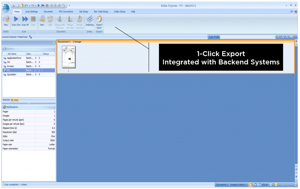 1-Click Export: Integrated with Backend Systems